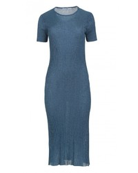 Tibi metallic ribbed marcel dress medium 1054389
