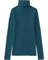 Uniqlo Extra Fine Merino Ribbed Turtle Neck Sweater