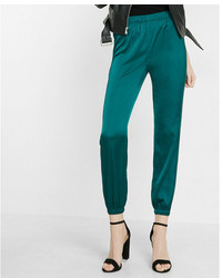 Express Mid Rise Satin Ankle Jogger Pant