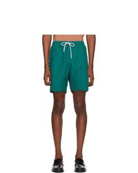 Saturdays Nyc Green Timothy Swim Shorts