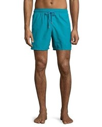 Vilebrequin Moorea Panda Water Reactive Swim Trunks Prussian Blue