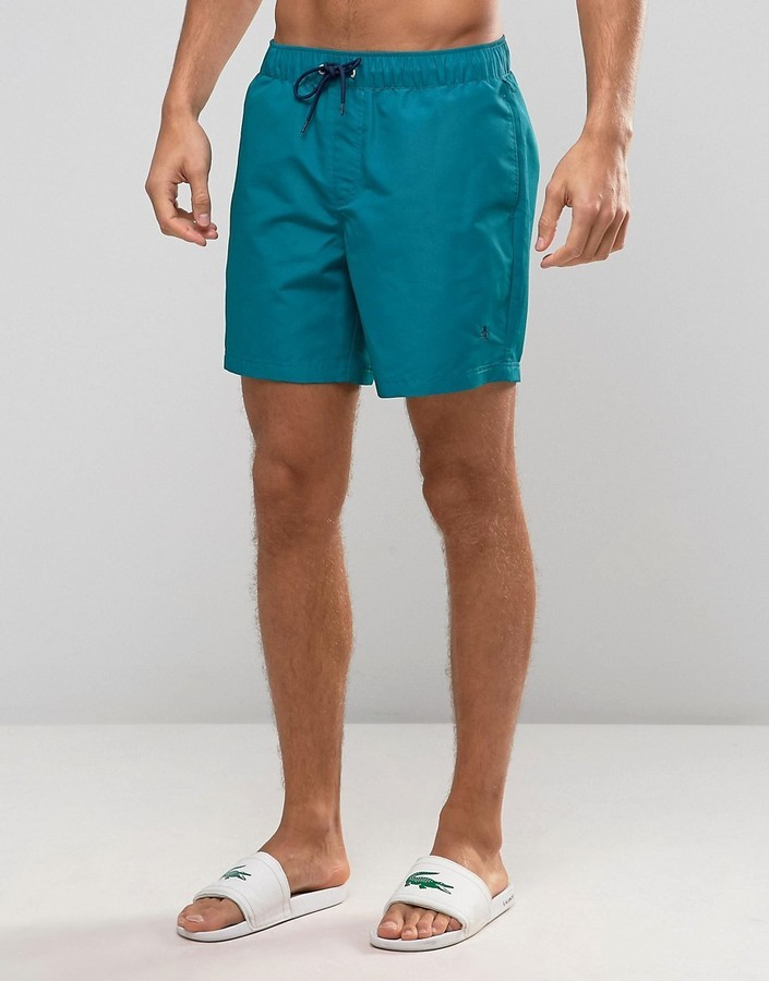 dd34a0645c Original Penguin Swim Shorts Small Logo In Green, $56 | Asos ...