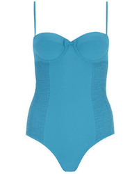 Dorothy Perkins Tummy Control Teal Blue Plain Swimsuit