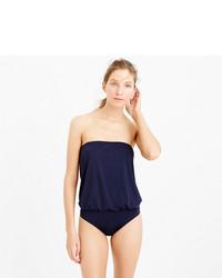 J.Crew Jersey Lomellina Blouson One Piece Swimsuit