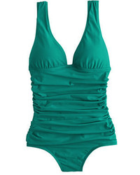 J.Crew Long Torso Ruched Femme One Piece Swimsuit