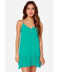Lulu s let it flow teal dress medium 55660