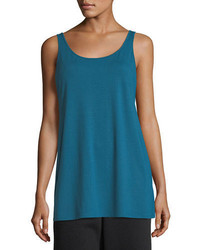 Eileen Fisher Sleeveless Scoop Neck Lightweight Jersey Tank