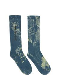 Off-White Blue Tie Dye Socks