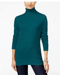 JM Collection Button Cuff Turtleneck Sweater Only At Macys