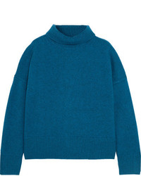 Vanessa Bruno Henriqua Wool Blend Turtleneck Sweater Blue