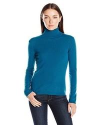 Lark Ro 100% Cashmere Slim Fit Basic Turtleneck Sweater
