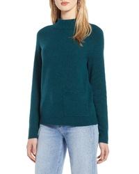 Halogen Mock Neck Pocket Sweater