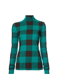 Proenza Schouler Pswl Buffalo Plaid Turtleneck