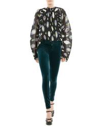Velvet skinny pants medium 3646353