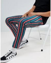 ASOS DESIGN Slim Trousers In Bold Stripe