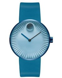 Movado 40mm Edge Watch With Silicone Strap Teal