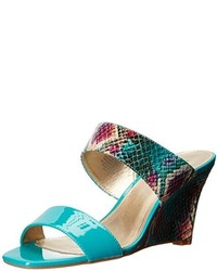 Teal wedge sandals original 2816367