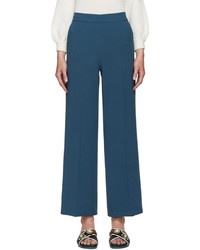 Fendi Blue Wool Trousers