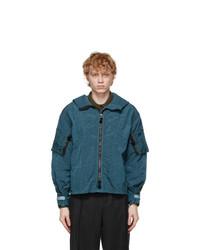 Maison Margiela Blue Nylon Sports Jacket