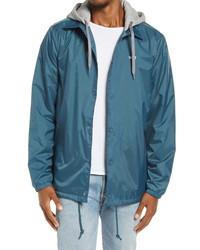 Vans Riley Water Resistant Coachs Jacket With Layered Hood
