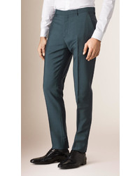 Slim fit wool mohair trousers medium 574609