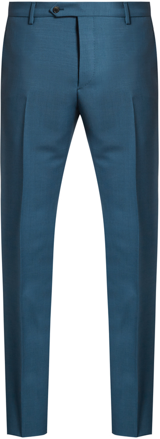 Wool trousers teal Valentino zSbxXal4