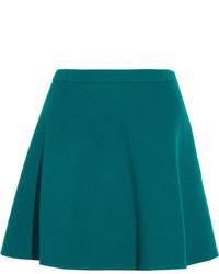 Miu Miu Wool Mini Skirt Jade