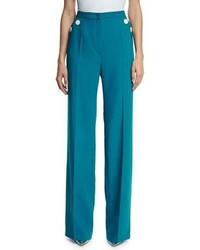 Escada Tuffni High Waist Wide Leg Sailor Pants Bay
