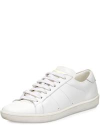 Tenis blancos de Saint Laurent