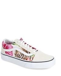 zapatos vans clasico con flor
