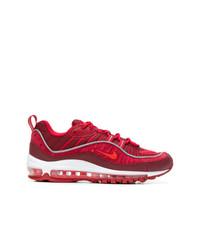 Tenis de ante con print de serpiente rojos de Nike