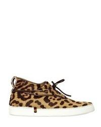 Tenis de ante de leopardo marrón claro