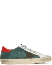Tenis de ante en verde azulado de Golden Goose Deluxe Brand