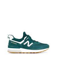 Tenis de ante en verde azulado de New Balance