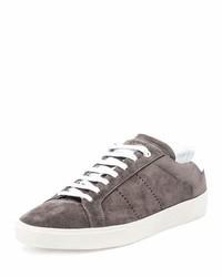 Tenis de ante grises de Saint Laurent