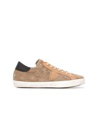 Tenis de ante marrón claro de Philippe Model
