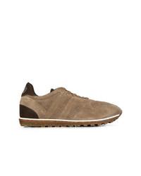 Tenis de ante marrónes de Alberto Fasciani