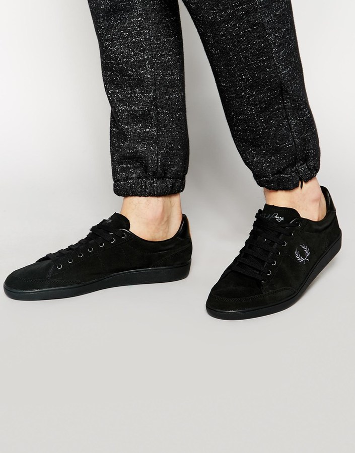 Zapatos negros Fred Perry para hombre aUwjnvs