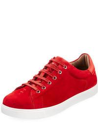 Tenis de ante rojos