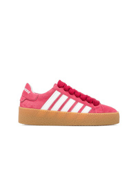 Tenis de ante rosa de Dsquared2