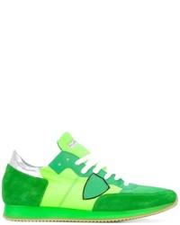 Tenis de ante verdes de Philippe Model