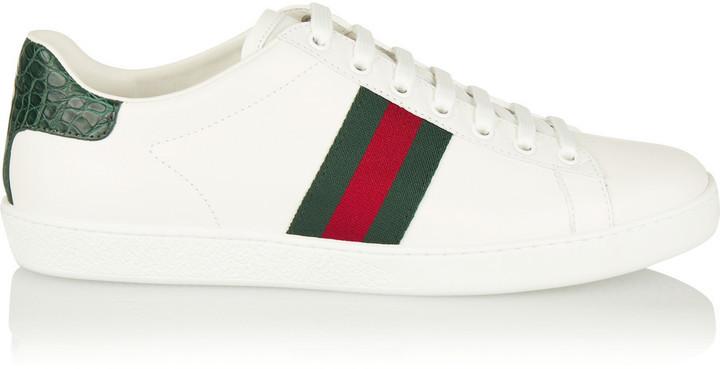 8fa8858afc903 Tenis de cuero blancos de Gucci  dónde comprar y cómo combinar