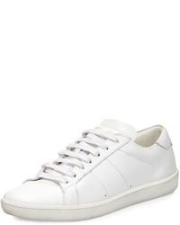 Tenis de cuero blancos de Saint Laurent