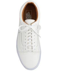 zapatillas vans cuero blancas