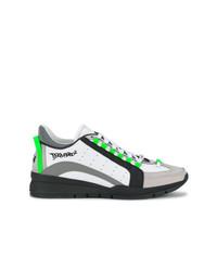 Tenis de cuero en multicolor de DSQUARED2