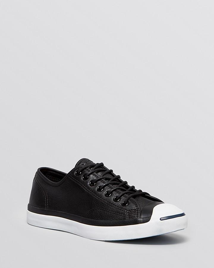 zapatillas converse de cuero negra