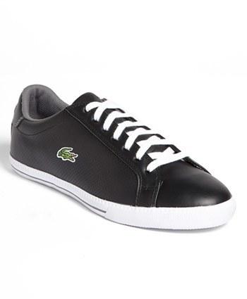 4d5706cc Tenis de cuero en negro y blanco de Lacoste, $79 | Nordstrom ...