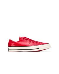 Tenis de cuero rojos de Converse