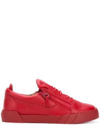 Tenis de cuero rojos de Giuseppe Zanotti Design