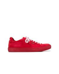Tenis de cuero rojos de Philipp Plein